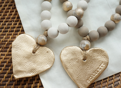 Forever Blessed: Handmade, clay Blessing Beads with personalized gift options. Hand painted in small batches. Includes personalized gift note and options for stamping initials, names, dates. Your purchase supports foster children and adoption. Ideal bridesmaid gifts, sympathy, loss, illness, cancer survivors, rare disease warriors, home decor, Made in America, encouragement gift ideas. Inspirational gifts with heart. Baptism, Dedication, baby naming, house blessing, housewarming. www.swellforever.com