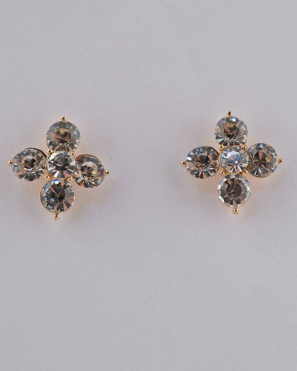 Rhinestone Flower Stud Earrings