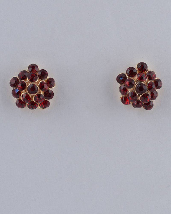 Rhinestone Stud Earrings
