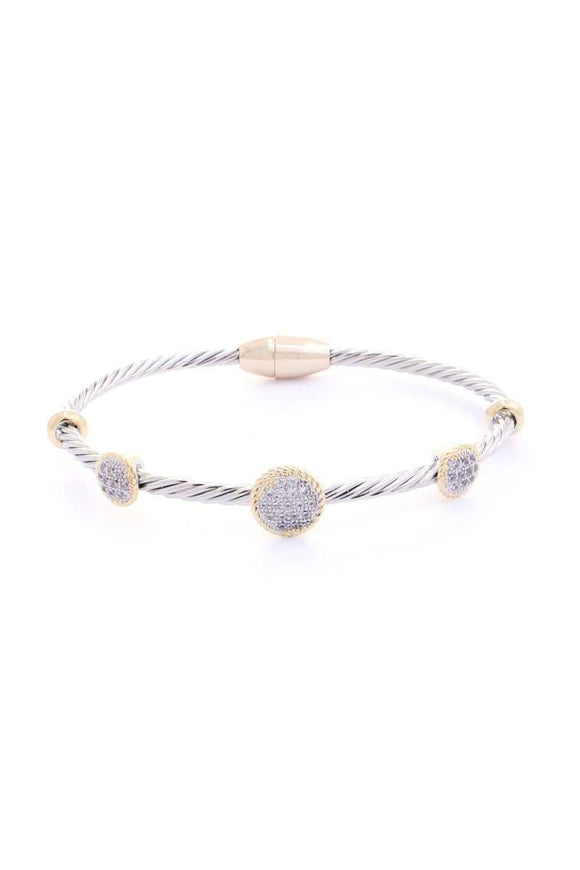 Metal Round Point Magnetic Bracelet