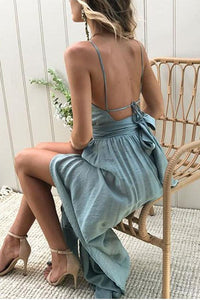 Sexy Halter Neck Sleeveless Maxi Dress same_as_photo l