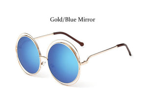 Round Retro Oversized Women Luxury Sunglasses
