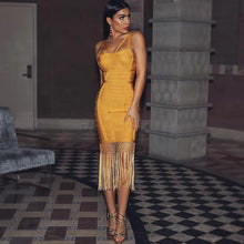 Load image into Gallery viewer, Women Tassel Bandage Midi Dress