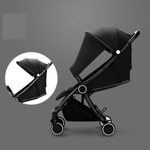 Load image into Gallery viewer, Automatic One Hand Folding Luxury Fashion Baby Stroller Portable Travel System
