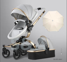 Load image into Gallery viewer, Aulon Luxury Baby Stroller 3 in 1 High landscape European design Pram with swivel seat