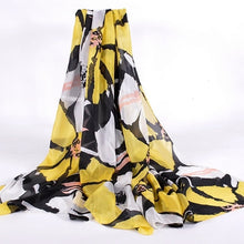 Load image into Gallery viewer, Plaid Pure Silk Scarf  Female Apparel Accessories Brand Long Scarves Wraps Summer 100% Silk Scarf Tippet Beach Shawl 200*110cm