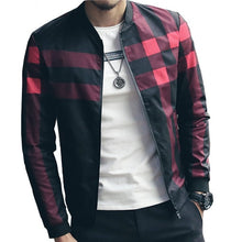 Load image into Gallery viewer, Men's Patchwork Casual Brand Clothing Stand Collar Long Sleeve Male Outwear up to  5XL