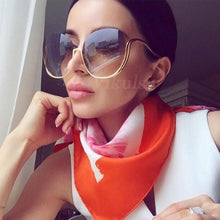 Load image into Gallery viewer, Rimless Gradient Women Luxury Brand Designer Oversized Round Sunglasses