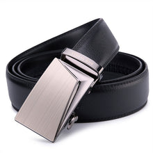 Load image into Gallery viewer, SAN VITALE Good Belts for Men 100% Cow Genuine Leather Mens Belt Male Automatic Alloy Buckle Straps Original