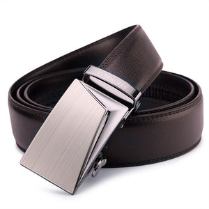 SAN VITALE Good Belts for Men 100% Cow Genuine Leather Mens Belt Male Automatic Alloy Buckle Straps Original
