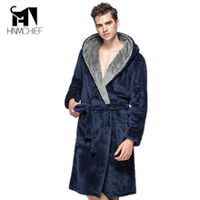 Load image into Gallery viewer, Bath Robe New Arrival Lovers Luxury Winter thick flannel Long Bathrobe men's women's homewear male sleepwear lounges pajamas
