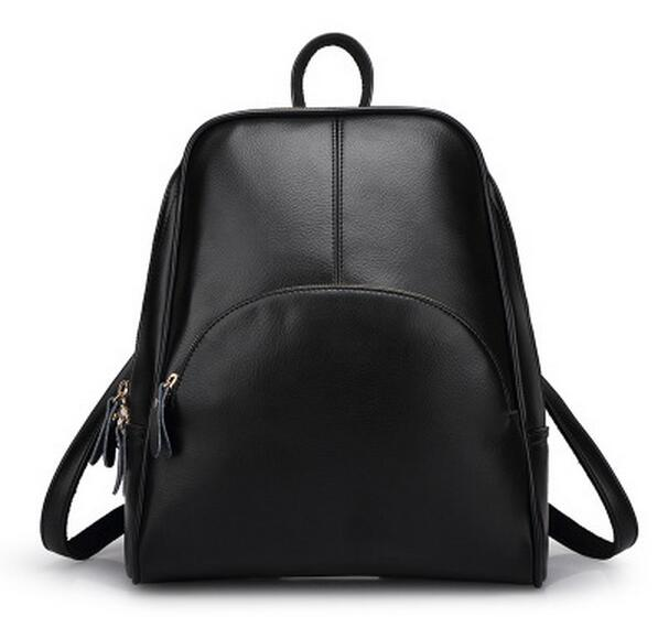2017 100% Real Soft Genuine Leather Women Backpack Woman Korean Style Ladies Strap Laptop Bag Daily Backpack Girl School N014