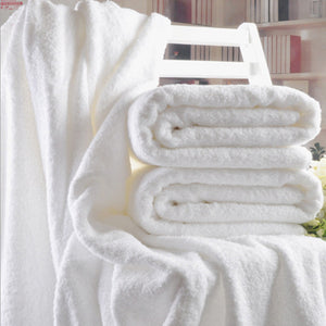 70x140cm Hotel Luxury Embroidery White Bath Towel Set 100% Cotton Large Beach Towel Brand Absorbent Quick-drying Bathroom Towel