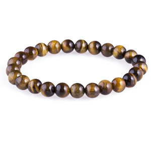 ATTYIRENA Men Jewelry Tiger Eye Buddha Bracelets For Men Luxury Meditation 8mm Prayer Bead Bracelets Natural Stone Bracelets