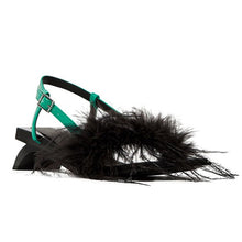Load image into Gallery viewer, Whimsy spring summer sandals with feather decor