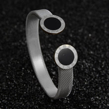 Load image into Gallery viewer, Luxury Jewelry Cuff Open Adjustable Stainless Steel Bracelets For Women Wedding Gift