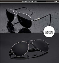 Load image into Gallery viewer, Aviation Metal Frame Quality Oversized Polarized Brand Design  Sunglasses