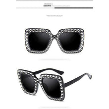 Load image into Gallery viewer, Crystal Sunglasses Italy Brand Designer Women Diamond Sun glasses Luxury Oversized Square Female Retro Stylish Big Frame Shades