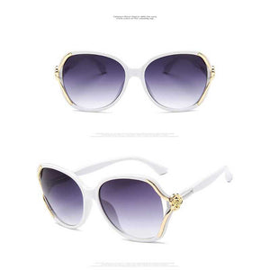 Sunglasses Women Luxury Brand Designer Vintage Oversized Sun glasses Elegant Ladies Rose Flower Frame Glasses Fashion Eyewear
