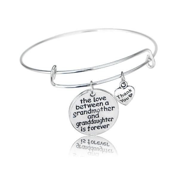 Grandmother and Granddaughter Forever Thankful Charm Bangle
