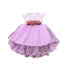 Load image into Gallery viewer, Infant Kids Baby Girl Clothes Summer Floral Print  Sleeveless Cotton Princess Party Dresses Mesh Girls Clothes Girls Ball Gown