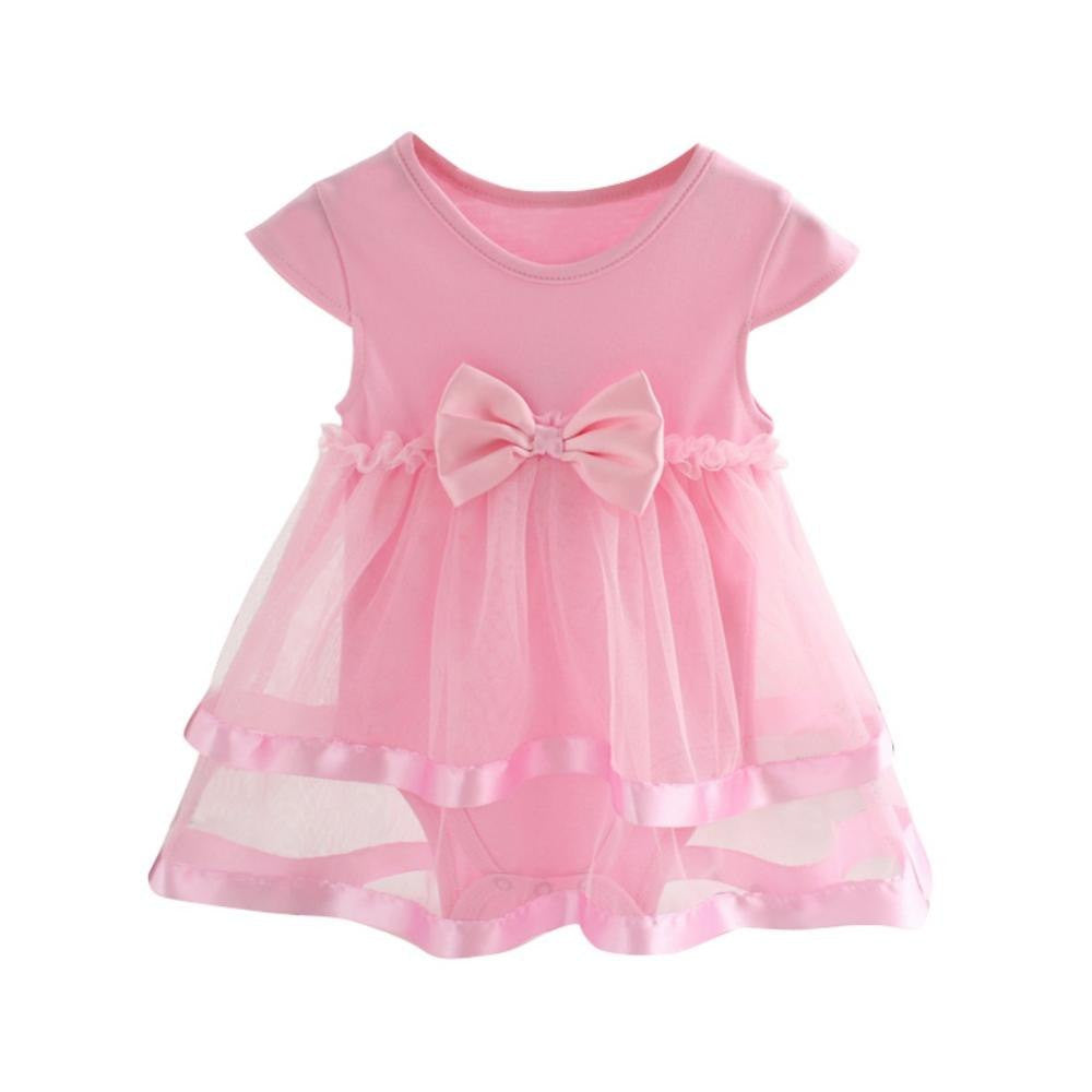 Summer Newborn Baby Dress Girls Jumpsuit Cotton Bow Baby Rompers For girls Kids Infant Clothes