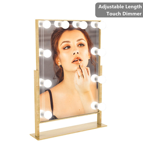 YUNLIGHTS Dresser Vanity Lights Bathroom Mirror Light Makeup Mirror String Light USB Dimmable Mirror Lamp LED Cosmetic Light with EU Plug