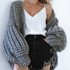 Hand Knit Lantern Sleeved Sweater