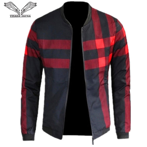 Men's Patchwork Casual Brand Clothing Stand Collar Long Sleeve Male Outwear up to  5XL