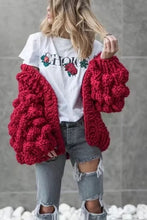 Load image into Gallery viewer, Hand Knit Lantern Sleeve Sweater
