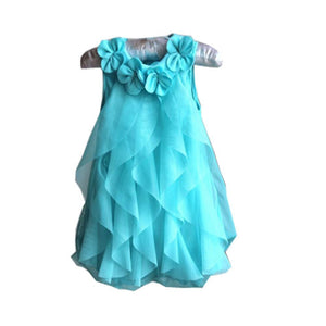 New Girls Birthday Party Dresses Jumpsuits Baby Girls Flowers Infant Romper Dress Children Dress Baby Clothes X16
