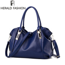 Load image into Gallery viewer, Herald Fashion Designer Women Handbag Female PU Leather Bags Handbags Ladies Portable Shoulder Bag Office Ladies Hobos Bag Totes