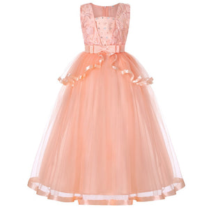 Kids Wedding Summer Party Dresses For Girls Birthday Princess Clothes Children Toddler Elegant Formal Vestido Infant 3-14 years