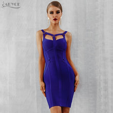 Load image into Gallery viewer, Women Bandage Dress New Arrival Pink Celebrity Party Dress Spaghetti Strap Hollow Out Runway Dresses