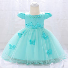 Load image into Gallery viewer, Infant vestidos baby girl clothes Baby dress Butterfly pearl Girl wear Sleeveless Dress for birthday party Toddler Costume