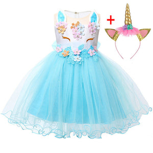 Baby Girl Dress New Summer Unicorn Party Dress Cosplay Christmas Dress Baby Girl Clothes Infant Birthday Princess Dress Vestidos