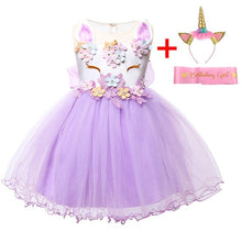 Load image into Gallery viewer, Baby Girl Dress New Summer Unicorn Party Dress Cosplay Christmas Dress Baby Girl Clothes Infant Birthday Princess Dress Vestidos
