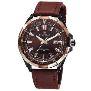 Top Luxury Brand Fashion Sport Waterproof Quartz Leather Wrist Watch