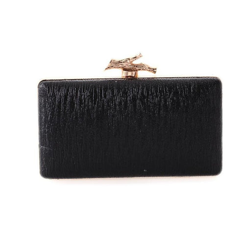 Meloke 2019 fashion  pattern leather evening clutch bags mini leather clutch wallets wedding dinner bags with chain MN305