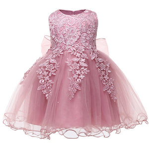 Baby Girl Dress 2018 Christmas Clothes Lace Tutu Dress Vestido Infant Party Dresses For Baby Girl First 1 Year Birthday Dresses