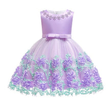 Load image into Gallery viewer, 2019 Vintage Baby Girl Dress Summer Bead Champagne Dresses for Newborn 1-2 Year Birthday Party Wedding Princess Infant Clothes