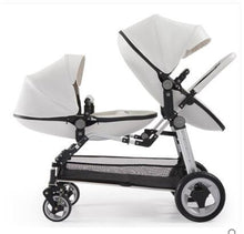Load image into Gallery viewer, Free Shipping  Luxury Twin Baby Stroller High Landscape Pram Folding Carriage
