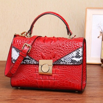 women bags 100 % Quality goods real skin Alligator Ladies handbag 2019 new luxury handbag Classic leather business shoulder bag