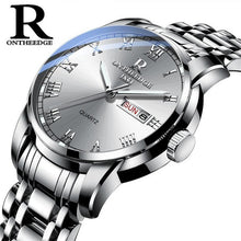 Load image into Gallery viewer, Waterproof Auto Date Silver Steel Mens Watch