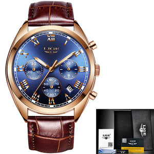 Top Brand Luxury Waterproof 24 Hour Date Quartz Leather Sport Wrist Watch