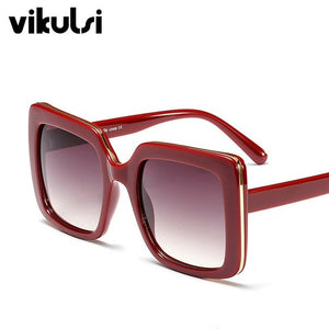 Women's Chic Sunglasses Metal Sides