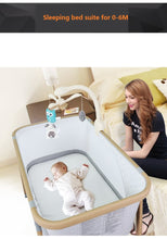 Load image into Gallery viewer, Luxury Steel Tube Folding Travel Baby Crib Nursery Center SGS Certified