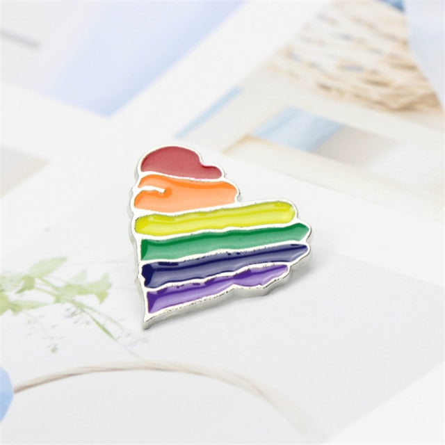 Pins LGBT<br/> Coeur design