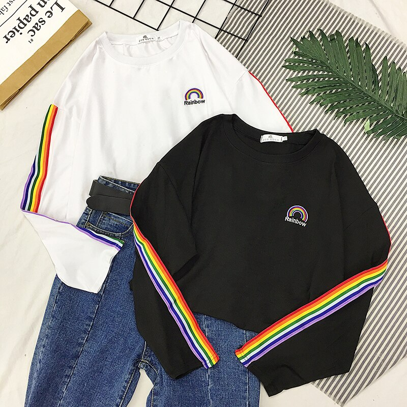 T-shirt LGBT<br/> Manches Rainbow