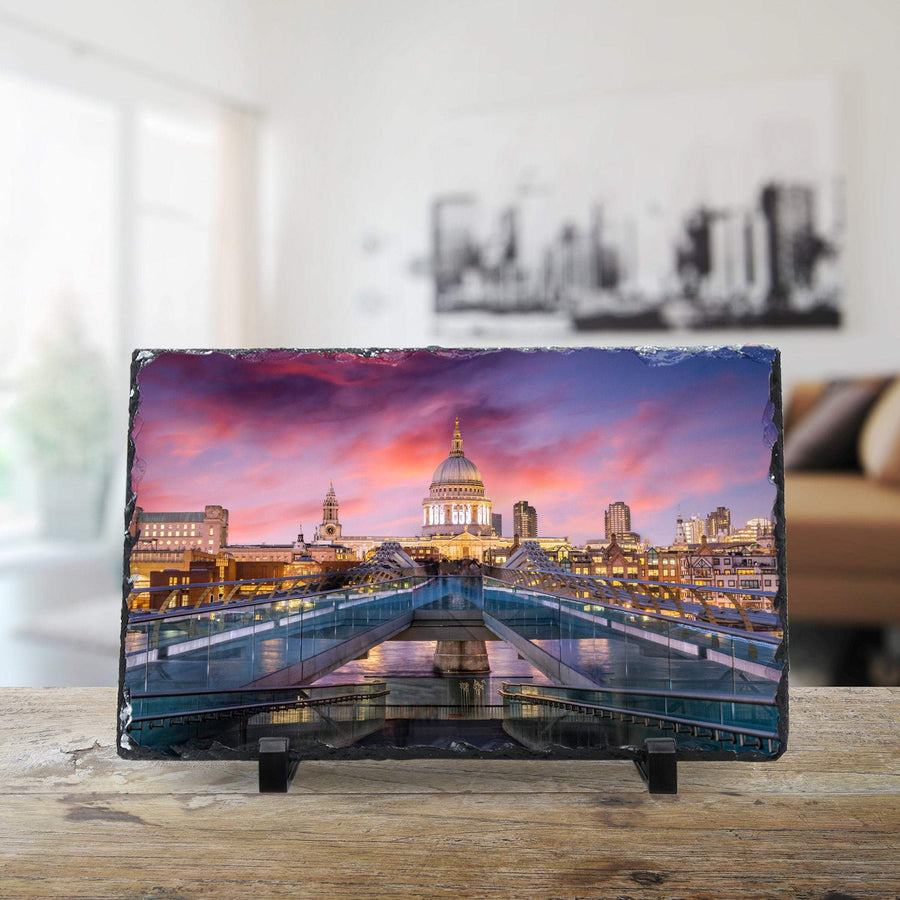 Millennium Bridge & St Paul's Cathedral, London cmzart 20 x 30 cm
